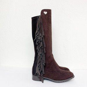 Stuart Weitzman Girl's 5050 Fringe Suede Boots